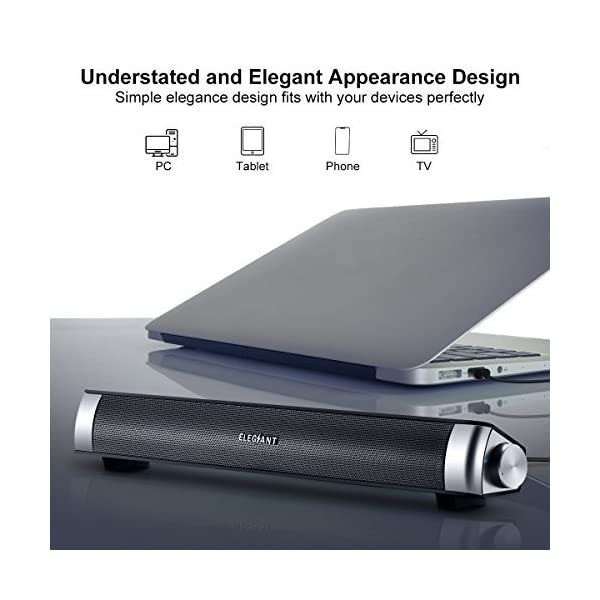 ELEGIANT USB Powered Sound Bar Speakers for Computer FBA/_ELEGIANTFurmores3071
