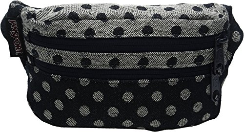 Jansport Hydration Pack - JanSport Hippyland 1L Lumbar Pack Navy Twiggy Dot Jacquard, One Size