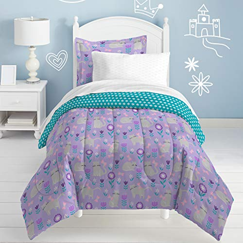 dream FACTORY Cat Garden Comforter Set, Full, Gray