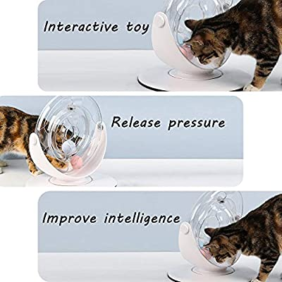 Sammiu Cat Roller Toy 360 Degree Interactive Cat Toy with Flashing Ball & Catnip Ball Cat Hunting Toy Cat Exercise Toy