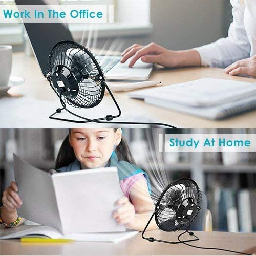 Portable USB Fan – Personal Desk Fan with 1.4m USB Cable, 6 Inch Mini Fan USB Fans for Desk, Quiet and Powerful, Perfect Office Fan USB Personal Fan for Home Office in Hot Summer Days