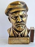 SOVIET RUSSIAN COMMUNIST PARTY LIEDER LENIN BUST STATUE H=15cm