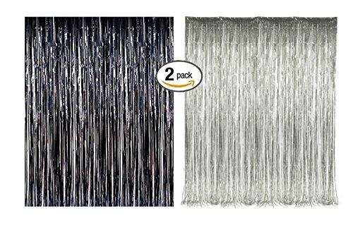 Foil Fringe Door & Window Curtain Party Decoration 3' X 8' (36