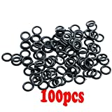 #11105(100 Pack ) Dealing Ring Twin Cam Oil Drain Plug O-Ring Replacements Rubber for Harley/ Buell OEM