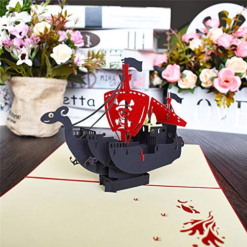 OUOK 3D Pop UP Cards Flowers Birthday Card Anniversary Gifts Postcard Maple Cherry Tree Wedding Invitations Greeting Cards,Corsair