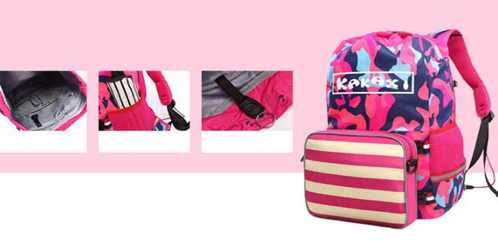 CL Rucksack - Creative Kinder Kinder Kinder Schulranzen Schulmädchen Leichte Large Capacity Freizeit Bag Sicherheit Reflexstreifen Rucksack Schultasche für Kinder (Farbe   Rosa, größe   28x15x43cm) B07NV1RS3M | Günstig  ced57a