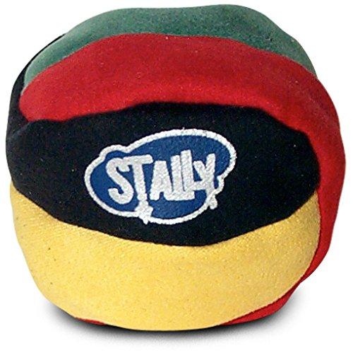 World Footbag Stally Hacky Sack Footbag, Black/Green/Red/Yellow - Sand Hacky Sacks