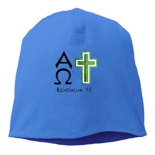 - Alpha And Omega Christian Beanie Cap RoyalBlue
