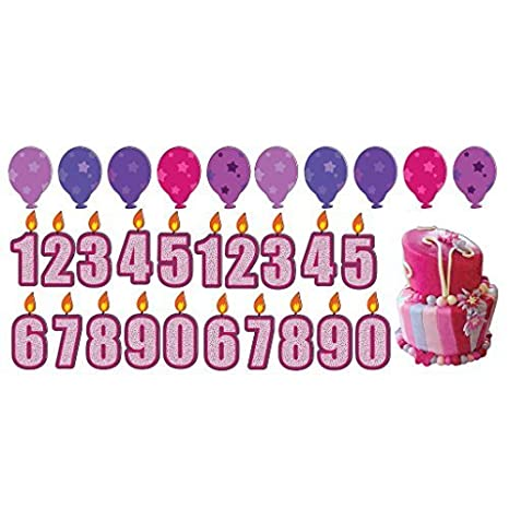 VictoryStore Yard Sign Outdoor Lawn Decorations Birthday Girl Pathway Markers Candles Cake And Balloons