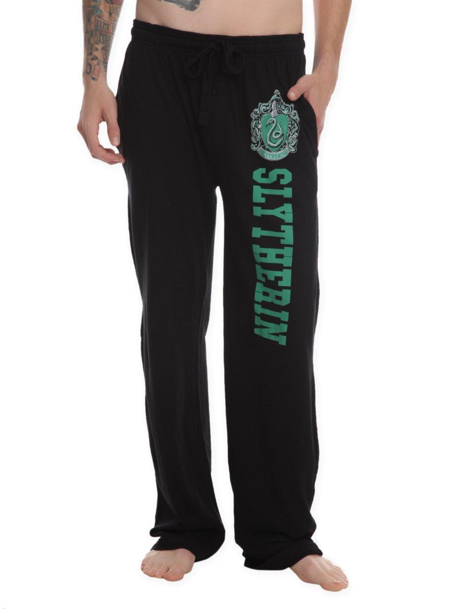 Harry Potter Slytherin Guys Pajama Pants Black X-Small