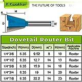 K Kwokker 5 Dovetail Router Bit 1/4 inch