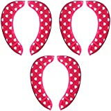 saounisi Toilet Seat Cover Washable, Adult Pad Cushion Red 3 Set Warm Soft Thick Fuzzy Round Elongated Washable Disposable Stickers