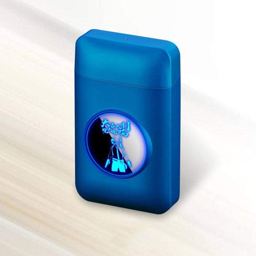 Caja de Cigarrillos con Tapa Caja de Cigarrillos portátil Ultra Delgada con Luces LED 20 Palos,G: Amazon.es: Hogar