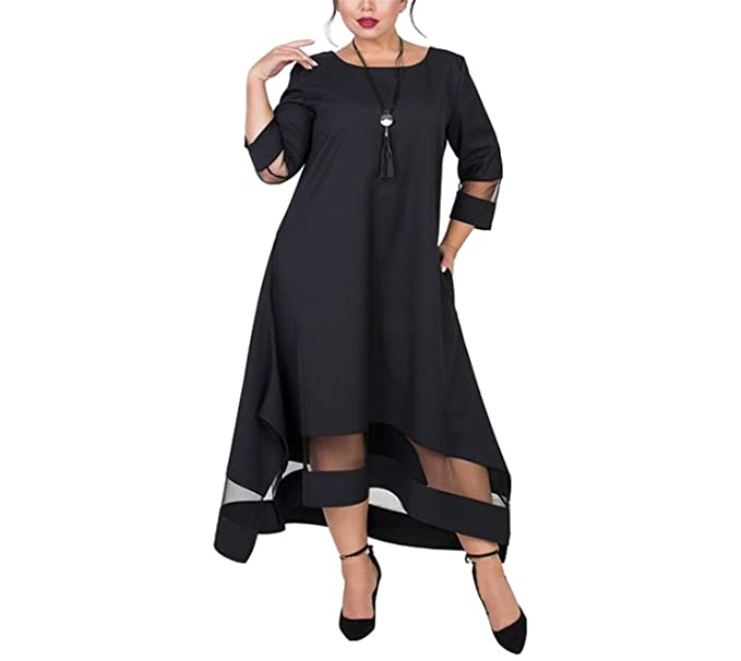 20e672eaebd Chopstick A Line 5XL 6XL Plus Size Winter Dress Mesh Elegant Women Dress  Large Size Long
