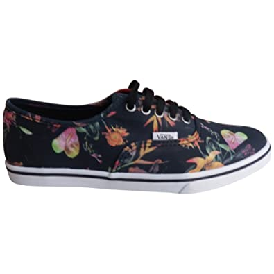 408a2b4cc51524 Vans Unisex Authentic Lo Pro Black Bloom Sneakers blacktruwht M4 W5 ...