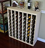 VinoGrotto 56 Bottle Premium Table Wine Rack (Pine) by VinoGrotto – Exclusive 12 inch deep design with solid sides. Hand-sanded to perfection!, Pine