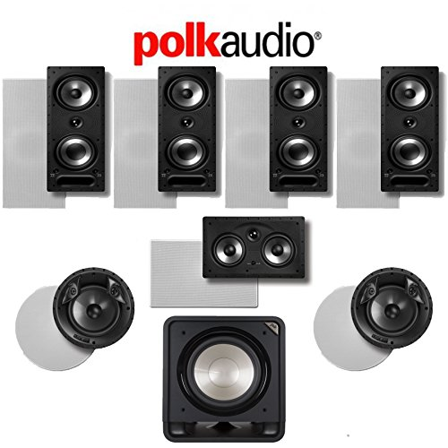 Polk Audio 265-RT 7.1-Ch Vanishing Series in-Wall/in-Ceiling Home Theater System (265-RT + 80F/X-RT + 255C-RT + HTS12) (Polk Audio In Wall Speaker System)