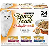 Purina Fancy Feast Gravy Wet Cat Food Variety Pack; Delights With Cheddar Grilled Collection - (24) 3 oz. Cans