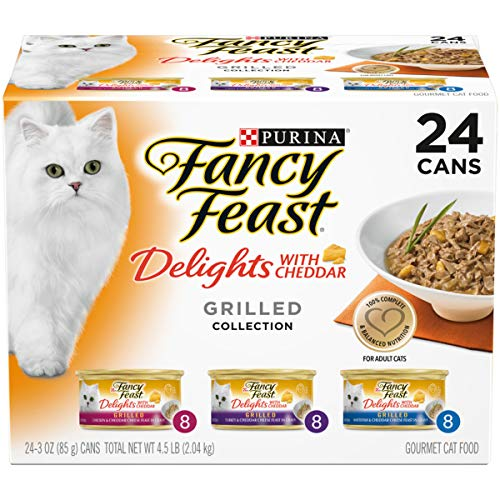 Purina Fancy Feast Gravy Wet Cat Food Variety Pack, Delights With Cheddar Grilled Collection - (24) 3 oz. Cans from Purina Fancy Feast