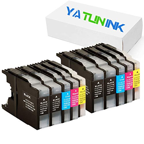 YATUNINK New Ink Cartridge for Brother LC71 LC75 / LC-71 LC-75 Compatible with MFC-J435W MFC-J430W MFC-J280W MFC-J6910DW MFC-J825DW MFC-J4300 MFC-J6710DW MFC-J625DW 10 Pack (4BK 2C 2M 2Y) ()