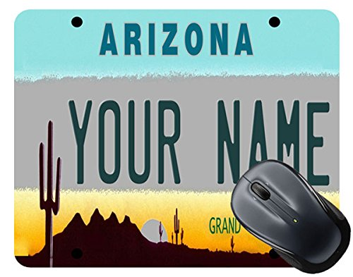 - BleuReign(TM) Personalized Custom Name Arizona State License Plate Square Mouse Pad