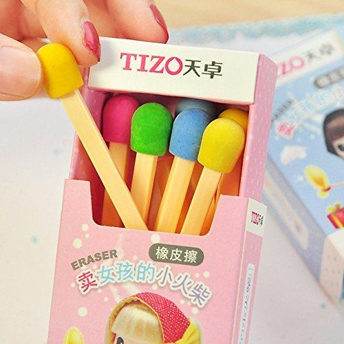 Zhjz Creative jouet papeterie Creative coloré gommes à bâton gommes Box