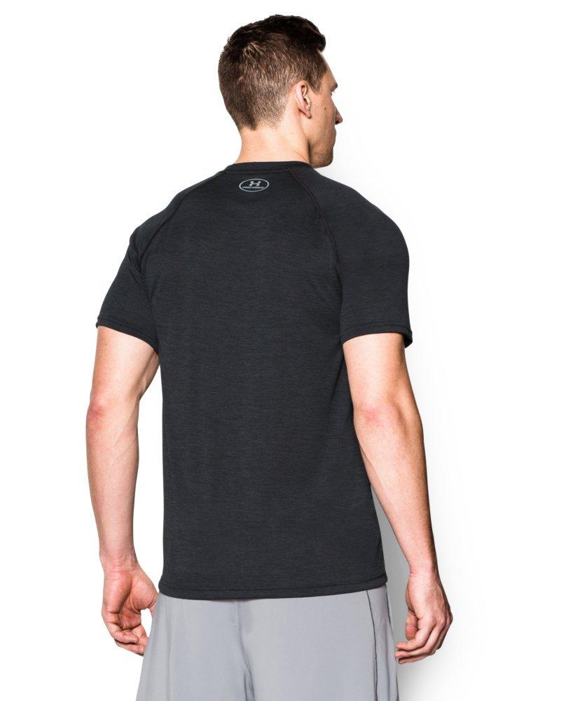Under Armour Men's Tech Short Sleeve T-Shirt, Black /Steel, XXX-Large by Under Armour (Image #2)
