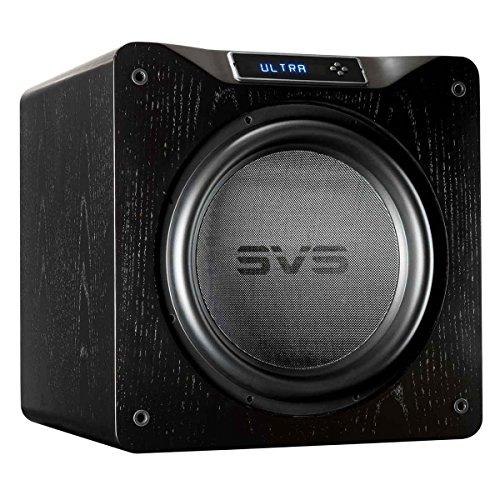 SVS SB16-Ultra Subwoofer (Black Oak) - 16-inch Driver, 1,500-Watts RMS, DSP App Control, Sealed Cabinet