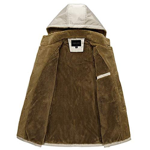 Hx Taglie Sottile Fibbia Abbigliamento Di Inverno Lunga Uomini Addensare Kaki Rivestimento Incappucciato Giù Modo Cappotto Manica Comode Caldo Monopetto Di wz7CxwBpq