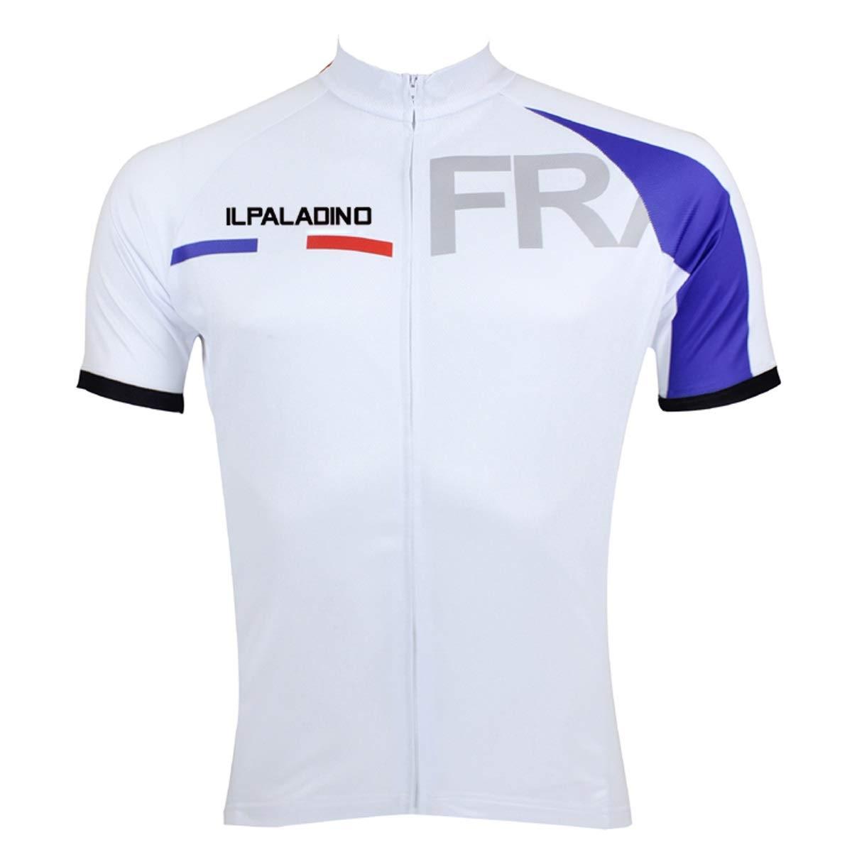 Fahrrad Reitanzug Sommer Wandern Spezielle Französisch Muster Feuchtigkeitstransport Radsportanzug Bike Jersey Fahrradtrikot LPLHJD