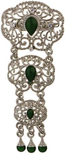 YAZILIND Hueco de Agua de la caída de Piedras Preciosas Artificiales Broche con Incrustaciones de Diamantes de imitación Joyas clásicas Mujeres