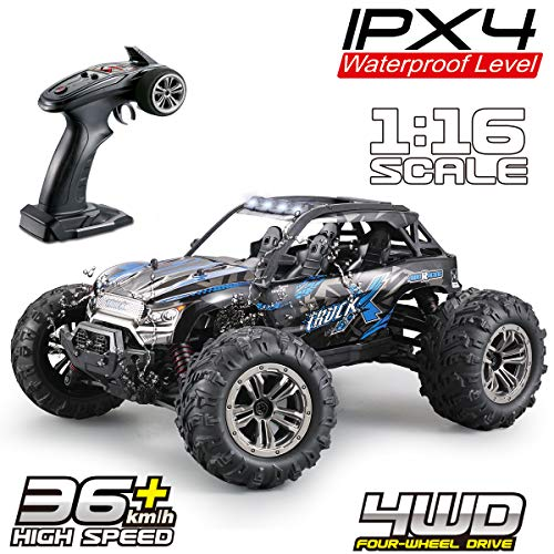 (Fistone RC Truck 1:16 High Speed Racing Car, 24MPH 4x4 Off-Road Waterproof Vehicle 2.4Ghz Radio Remote Control Monster Truck Dune Buggy Hobby Toys for Kids & Adults)