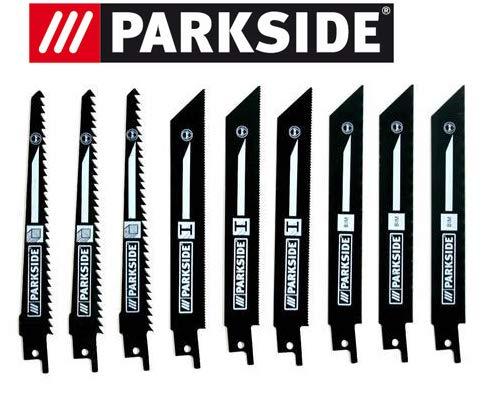 Parkside Lot de 9 lames de scie sabre PSSA 18 A1 – LIDL IAN 104447 3 x bois, 3 x métal, 3 x métal bi-métal 3 x métal 3 x métal bi-métal