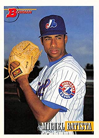 Amazon com: 1993 Bowman Baseball #564 Miguel Batista RC