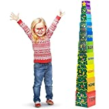 Deluxe Set of Holiday Christmas Tree Stacking Boxes - Includes 10 Numbered Boxes!
