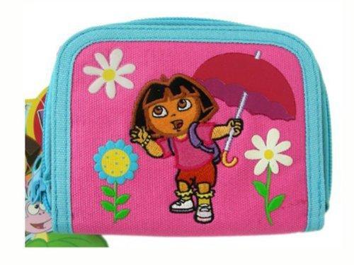 Pink and Blue Dora the Explorer Zipper Wallet