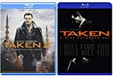 LIAM NEESON Taken (2 disc extended cut) & Taken 2 I WILL FIND YOU, I WILL KILL YOU Double Feature