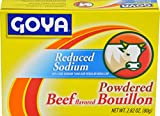Goya Foods Beef Bouillon Reduced Sodium, 2.82 Ounce (Pack of 24)