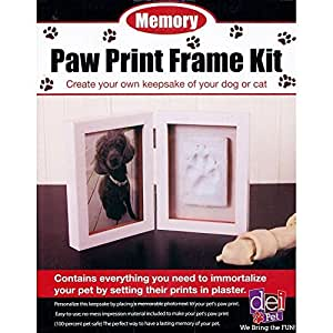 amazon com pawprint picture frame keepsake kit home kitchen