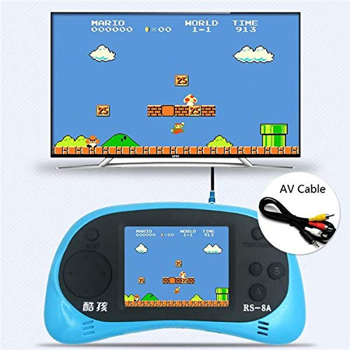 Handheld Game Console - Rs-8 Game Player - RS-8 8Bit 2.5inch Screen Built-in 260 Different Classic Games Handheld Game Consoles with AV Cable - Blue ( Classic Handheld Games ) by Unknown (Image #5)
