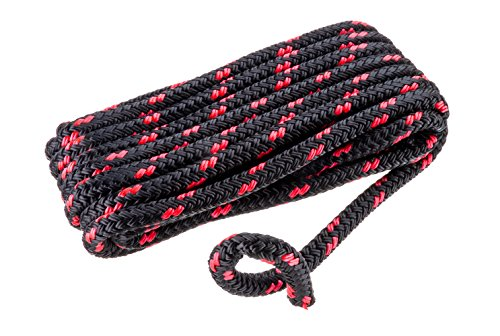 - SEACHOICE Double-Braid Multifilament Polypropylene Dock Line 3/8 x 15' black/Red 42431 Double-Braid Multifilament Polypropylene Dock Line 3/8 x 15' black/Red, Black with Red Tracer