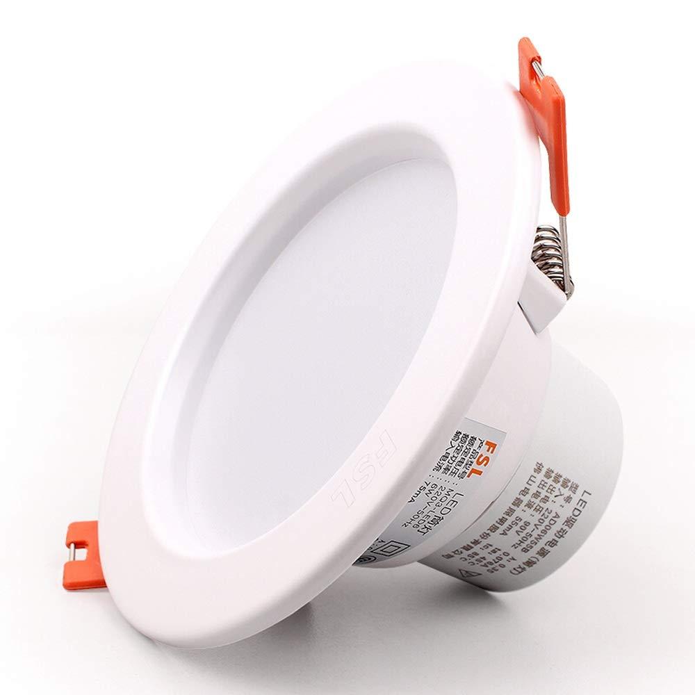 Alluminio rotondo bianco da incasso da incasso 6W diametro del foro 90mm-100mm Faretti da soffitto Ultra sottile LED pannello da soffitto Illuminazione europeo commerciale da incasso illuminazione