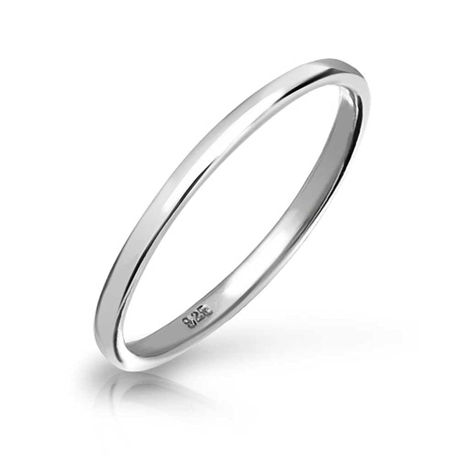 Amazon Bling Jewelry 925 Sterling Silver Wedding Band Thumb