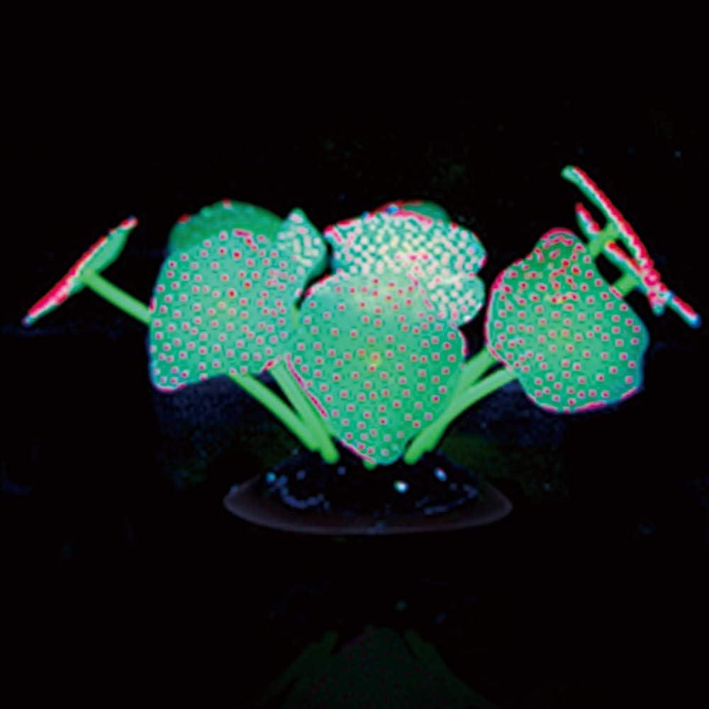 ODJOY-FAN Glowing Simulazione Coral Plant Ornamenti per Acquario Acquario Decorazione paesaggistica Simulation Coral Medusa Ornamento Decorazione Striscia Corallo pianta incandescente Effetto