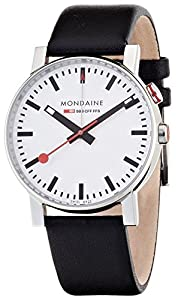 Mondaine Unisex A4683035211SBB Evo Big Analog Display Swiss Quartz Black Watch