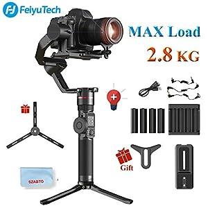 FeiyuTech AK2000 - Stabilizzatore manuale a 3 assi per fotocamere DSLR/fotocamere mirrorless, si adatta alle fotocamere Sony/Canon/Panasonic/Nikon, carico utile 2,8 kg 1 spesavip