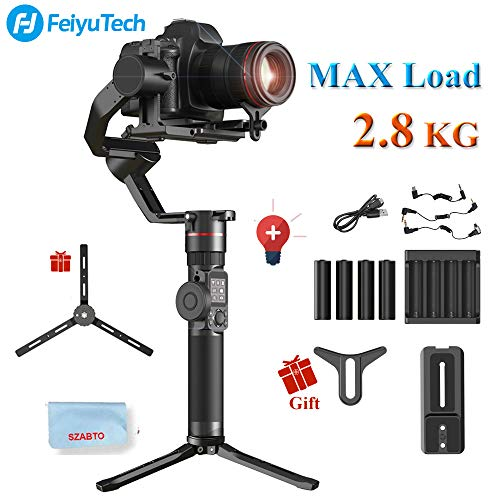 (FeiyuTech AK2000 3-Axis Brushless Handheld Camera Stabilizer Gimbal 2.8 KG Payload with Touch Panel for Sony Canon 5D Panasonic GH5 Nikon )