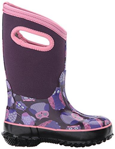Bogs Baby Classic Owl Snow Boot, Purple/Multi, 10 M US