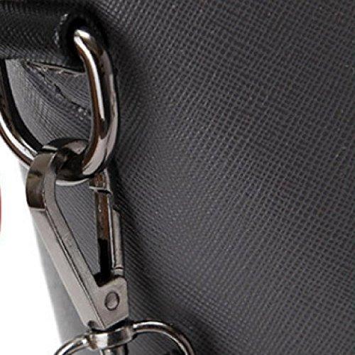 Pocket Messenger Black Main Travail Dames Cuir À Noir Femmes Bandoulière Multi Sacs Casual De En Pu Sac 6awqzU