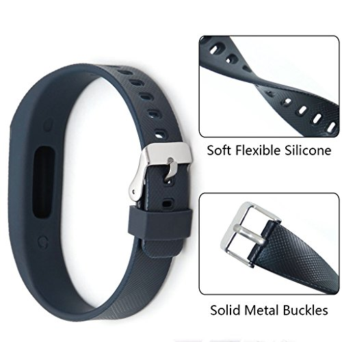 For Fitbit Flex Bands with Buckle, Austrake Replacement Wristband For Fitbit Flex Silicone Strap and Clasp for Women Men Kids